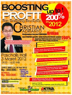 SEMINAR : BOOSTING PROFIT WITH MARKETING REVOLUTION